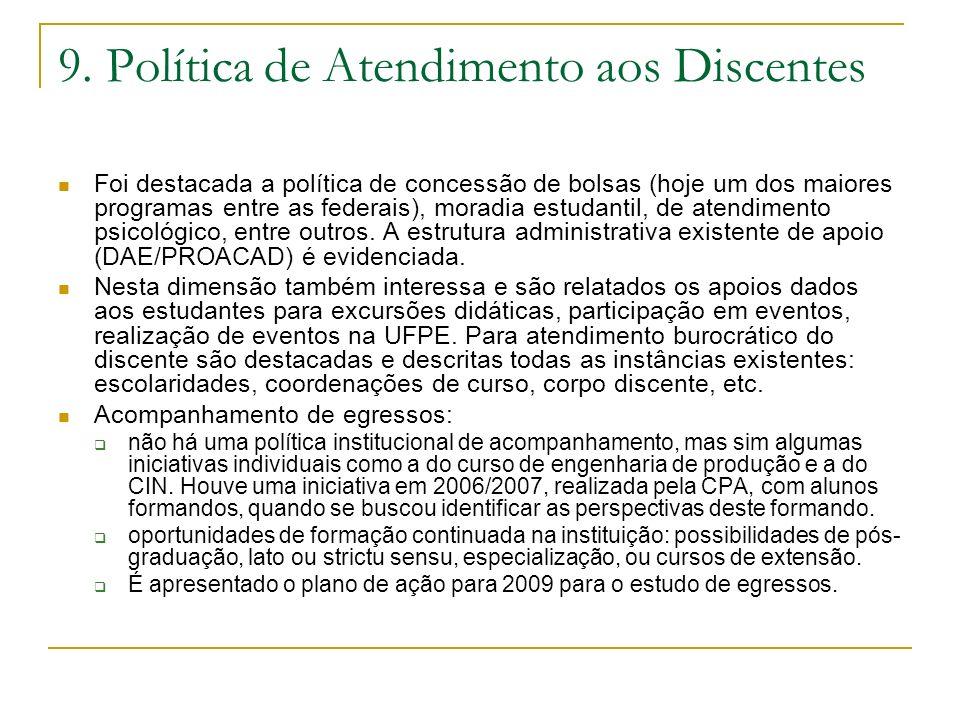 9. Política de Atendimento aos Discentes