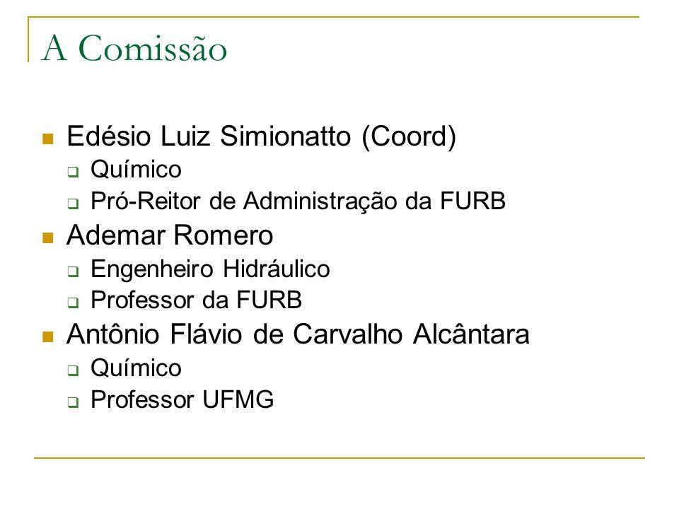 A Comissão Edésio Luiz Simionatto (Coord) Ademar Romero