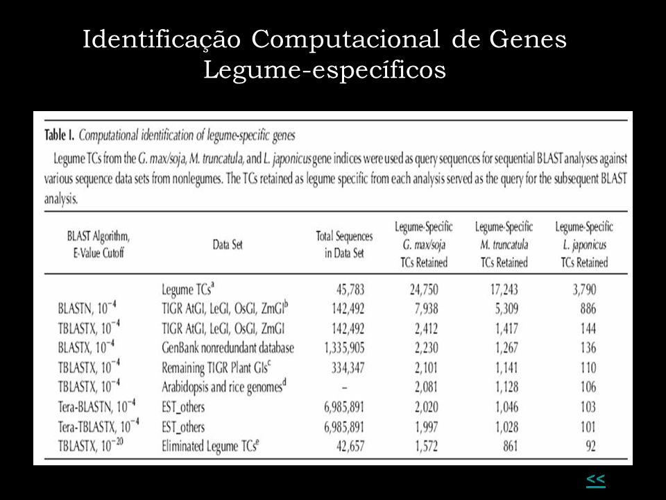 Identificação Computacional de Genes Legume-específicos