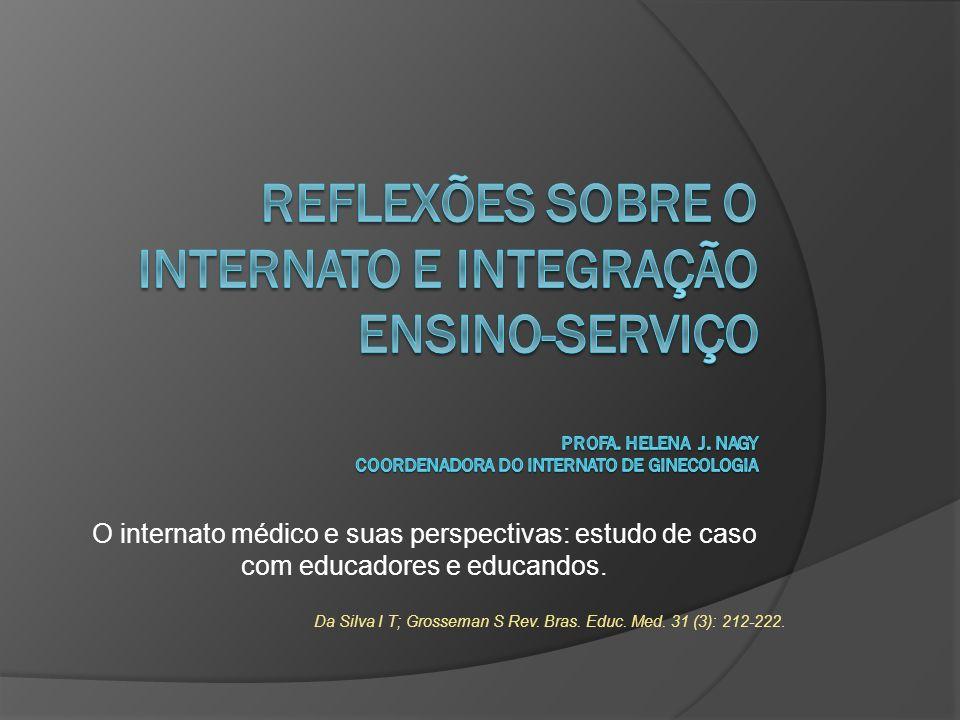 Reflexões sobre o internato e integração ensino-serviço Profa. Helena J. Nagy Coordenadora do internato de ginecologia