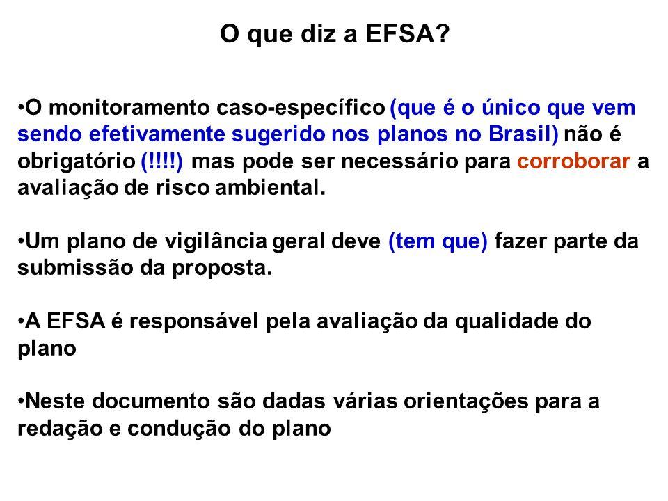 O que diz a EFSA