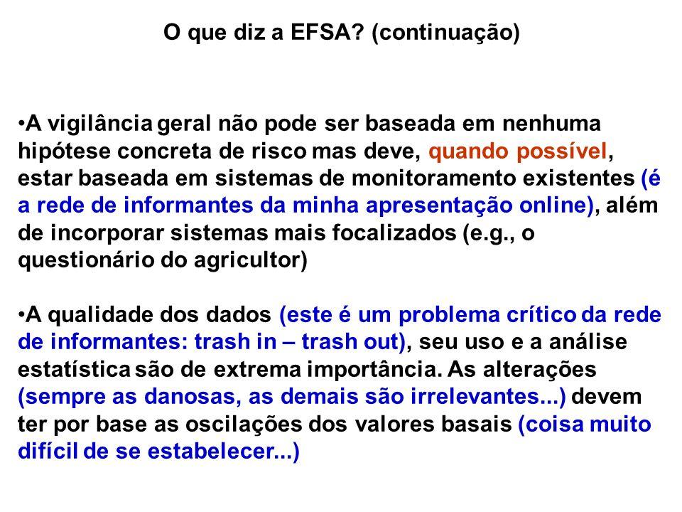 O que diz a EFSA (continuação)