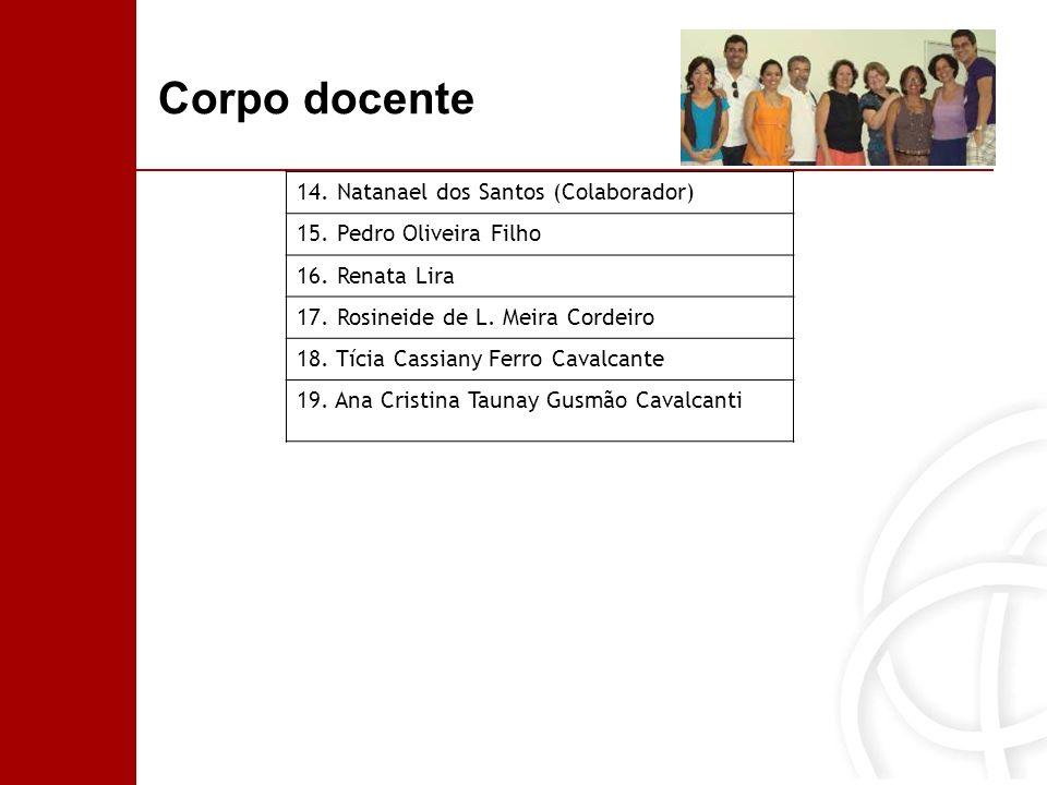Corpo docente 14. Natanael dos Santos (Colaborador)