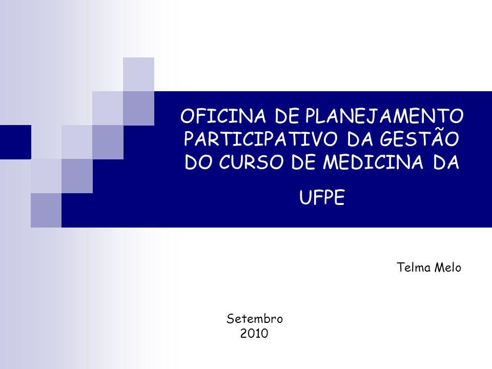 OFICINA DE PLANEJAMENTO PARTICIPATIVO DA GESTÃO DO CURSO DE MEDICINA DA UFPE