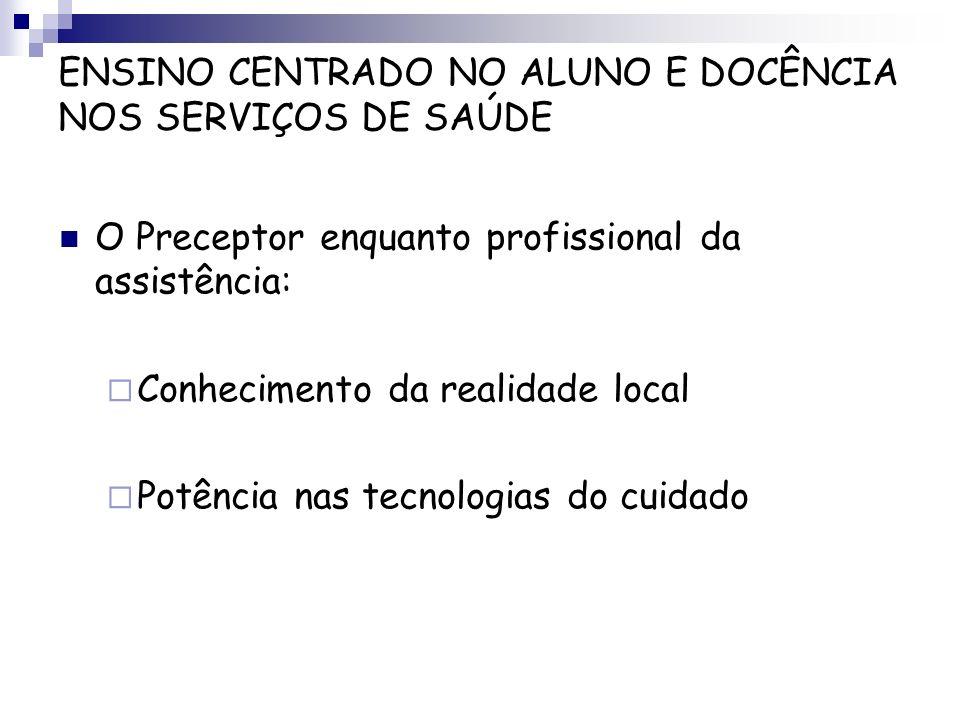 ENSINO CENTRADO NO ALUNO E DOCÊNCIA NOS SERVIÇOS DE SAÚDE