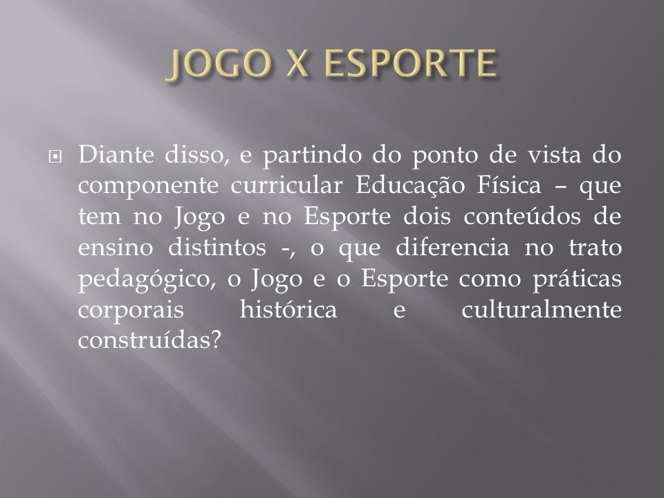 JOGO X ESPORTE