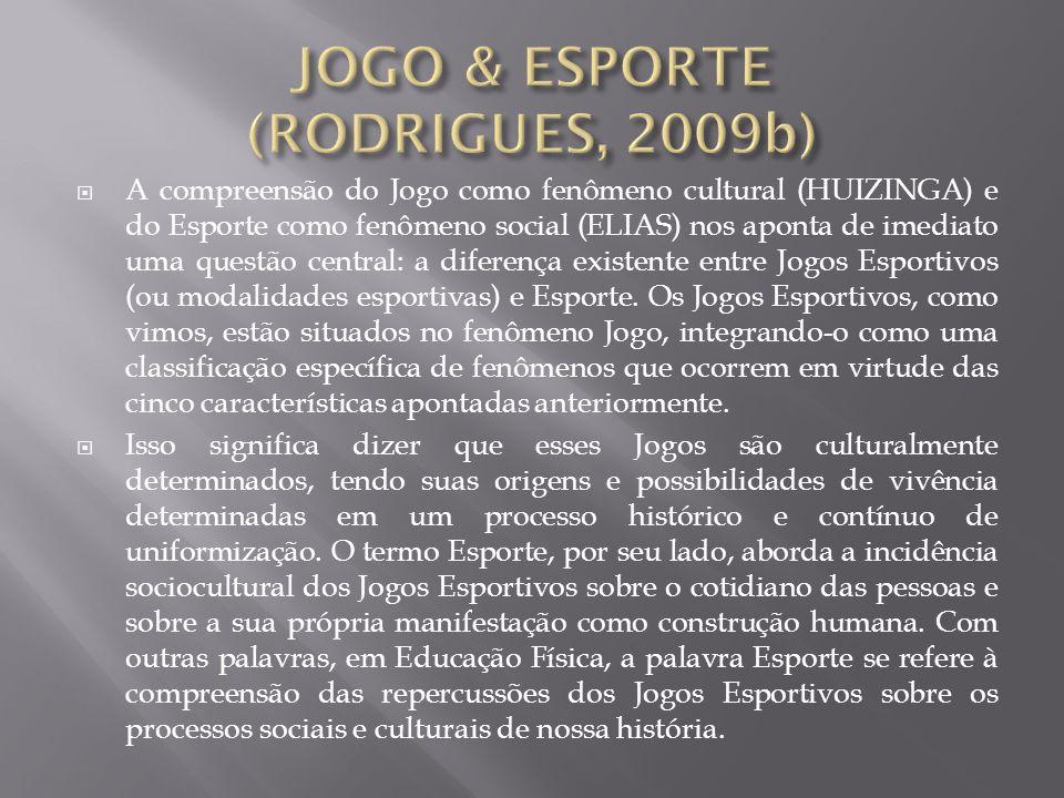 JOGO & ESPORTE (RODRIGUES, 2009b)