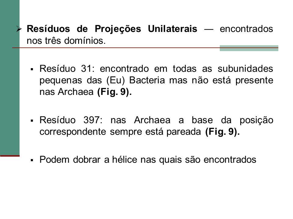 Resíduos de Projeções Unilaterais ― encontrados nos três domínios.