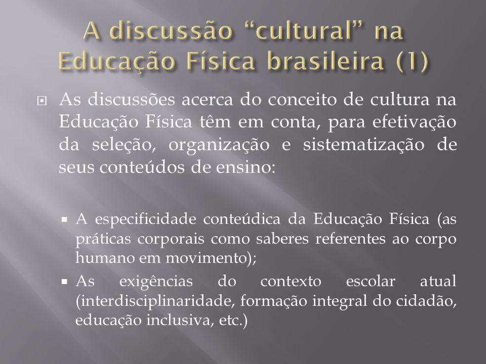 A discussão cultural na Educação Física brasileira (1)