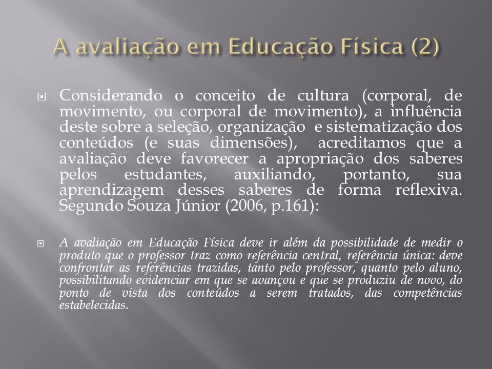 A avaliação em Educação Física (2)
