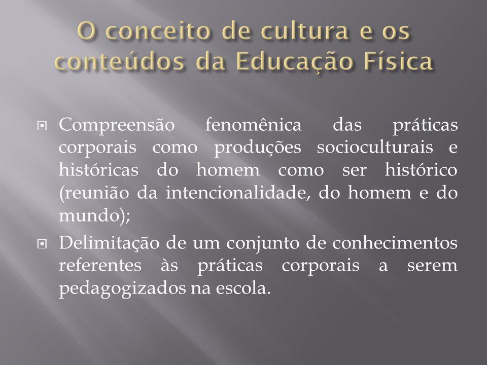 O conceito de cultura e os conteúdos da Educação Física