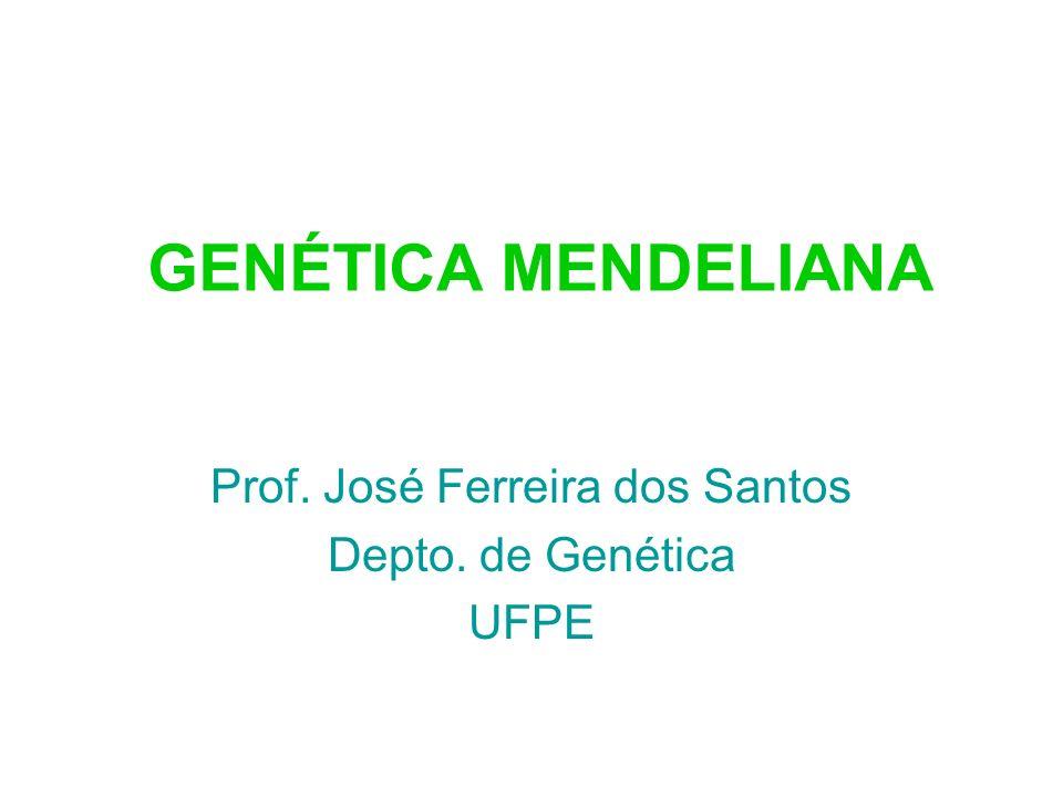 Prof. José Ferreira dos Santos Depto. de Genética UFPE
