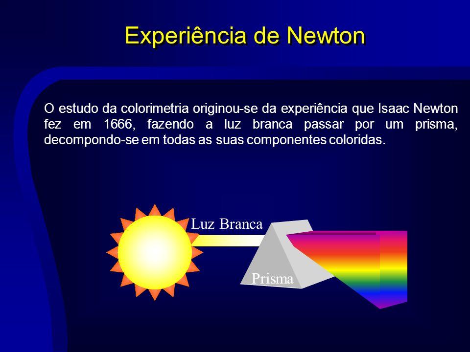 Experiência de Newton Luz Branca Prisma