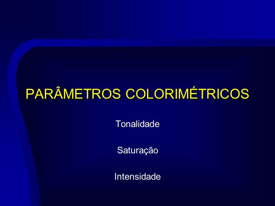 PARÂMETROS COLORIMÉTRICOS