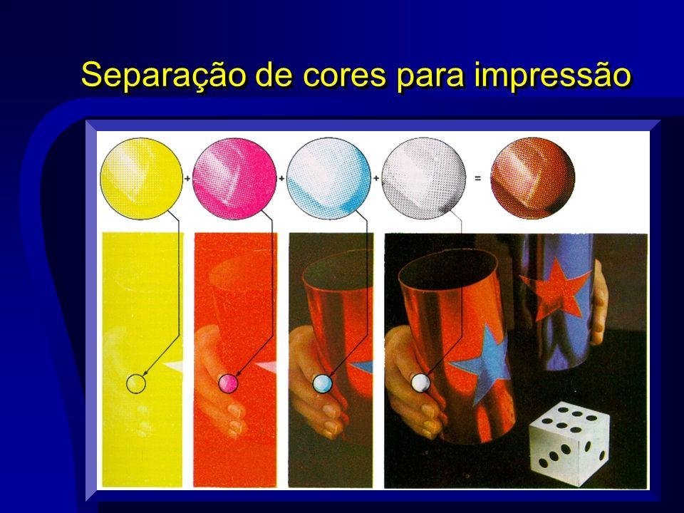 Separação de cores para impressão