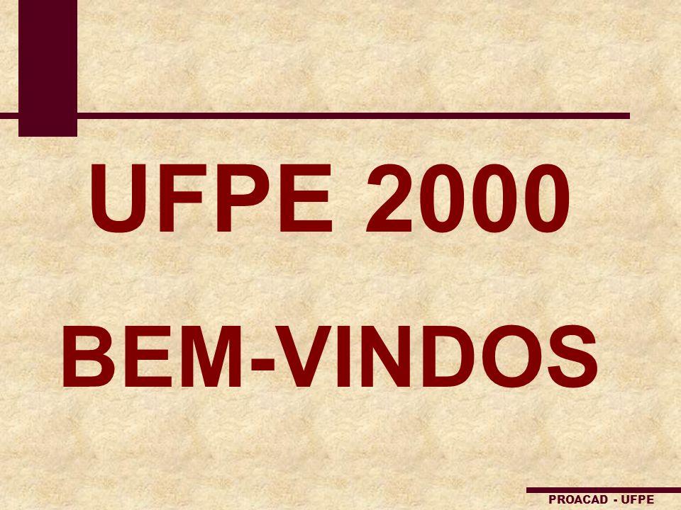 UFPE 2000 BEM-VINDOS PROACAD - UFPE