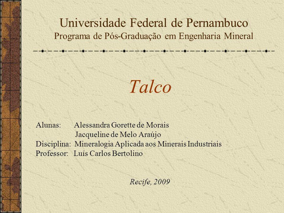 Universidade Federal de Pernambuco Programa de Pós-Graduação em Engenharia Mineral