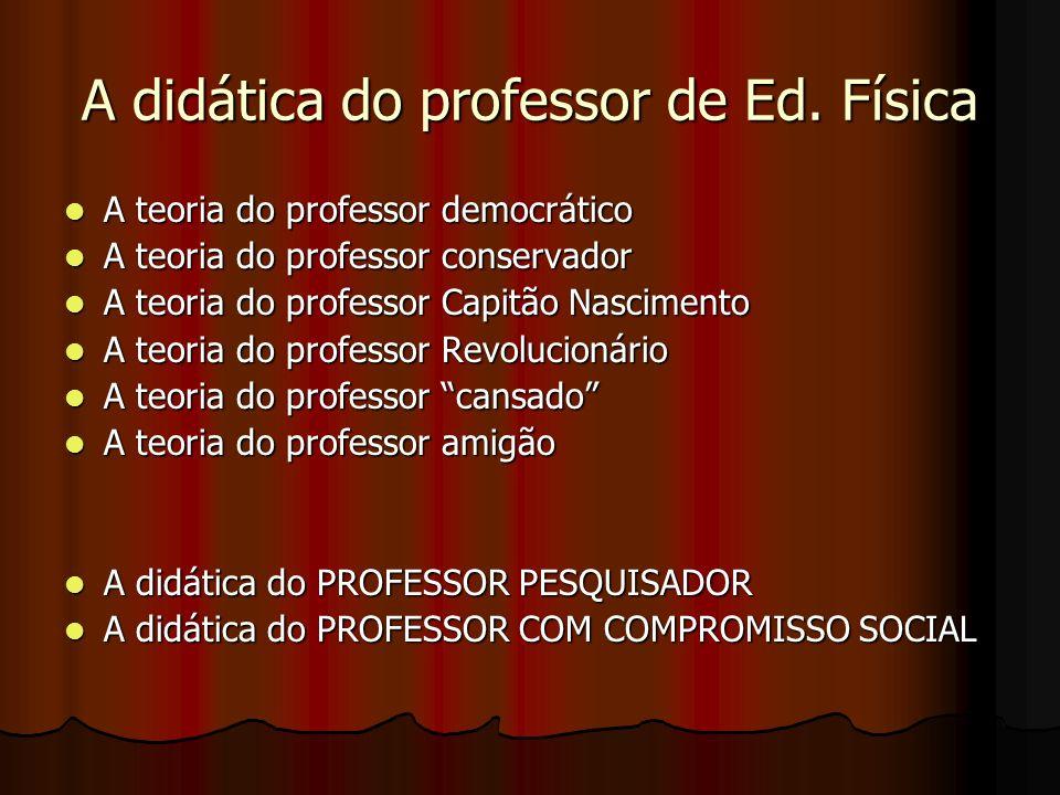 A didática do professor de Ed. Física