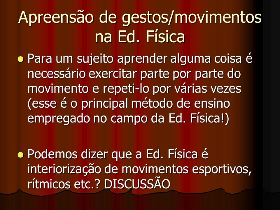 Apreensão de gestos/movimentos na Ed. Física