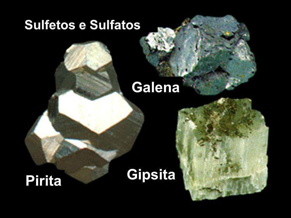 Sulfetos e Sulfatos Galena Gipsita Pirita
