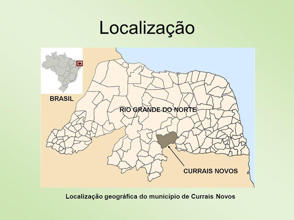 Localização geográfica do município de Currais Novos