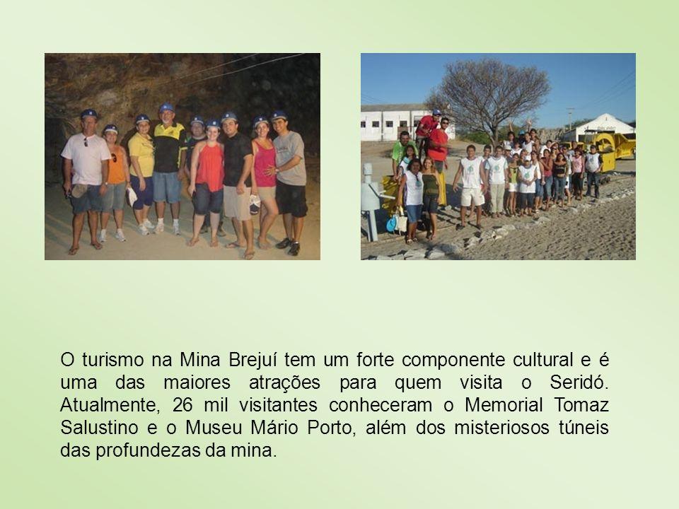 O turismo na Mina Brejuí tem um forte componente cultural e é uma das maiores atrações para quem visita o Seridó.