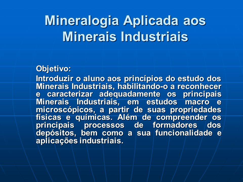 Mineralogia Aplicada aos Minerais Industriais