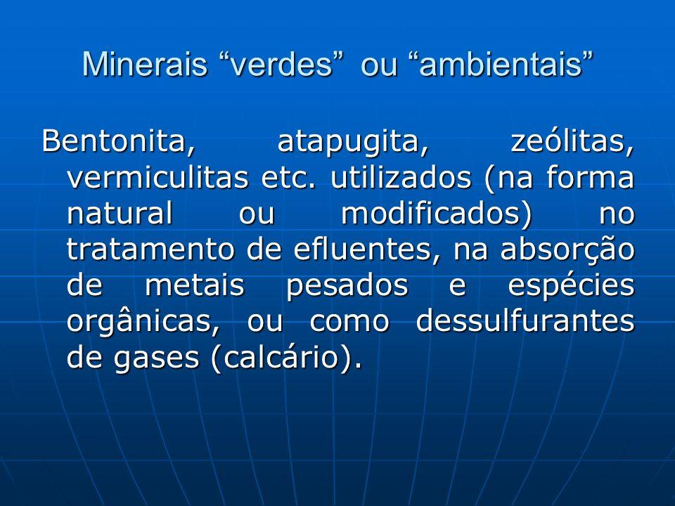 Minerais verdes ou ambientais