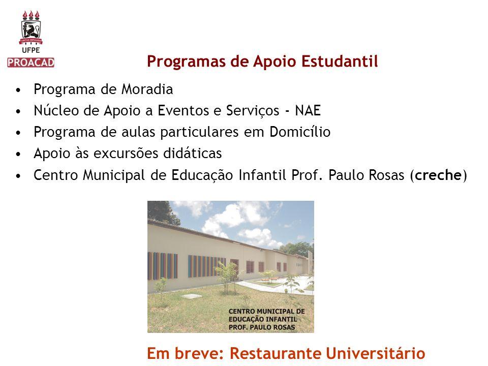 Programas de Apoio Estudantil