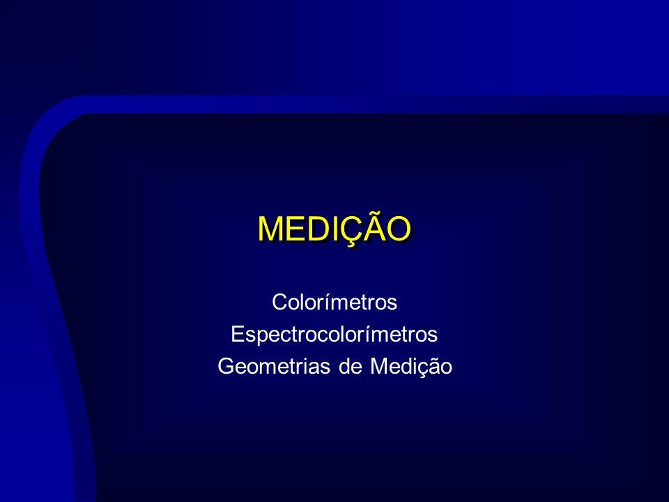 Colorímetros Espectrocolorímetros Geometrias de Medição