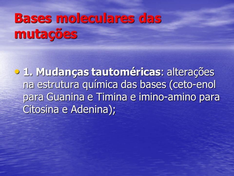 Bases moleculares das mutações