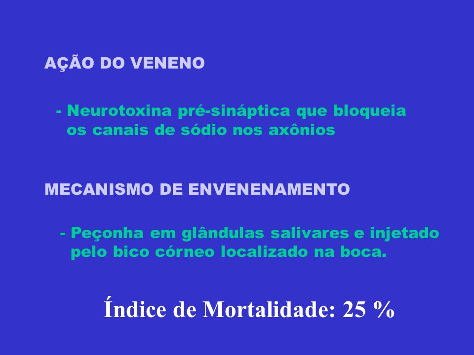 Índice de Mortalidade: 25 %
