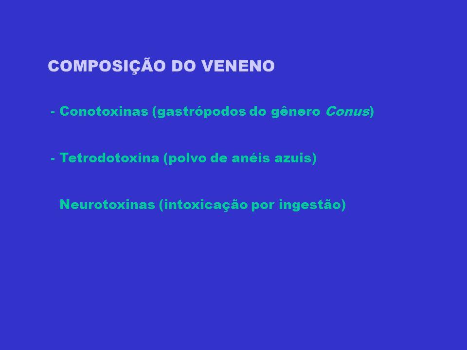 COMPOSIÇÃO DO VENENO - Conotoxinas (gastrópodos do gênero Conus)