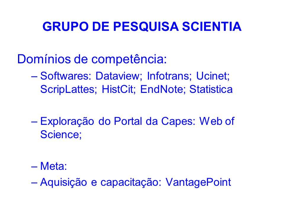 GRUPO DE PESQUISA SCIENTIA