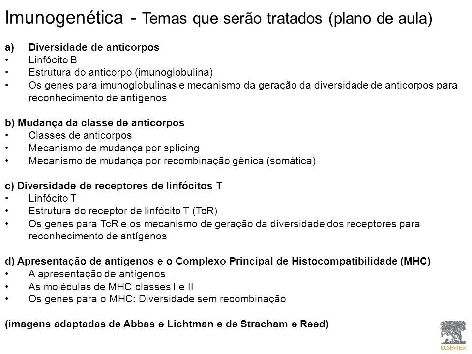 Imunogenética - Temas que serão tratados (plano de aula)