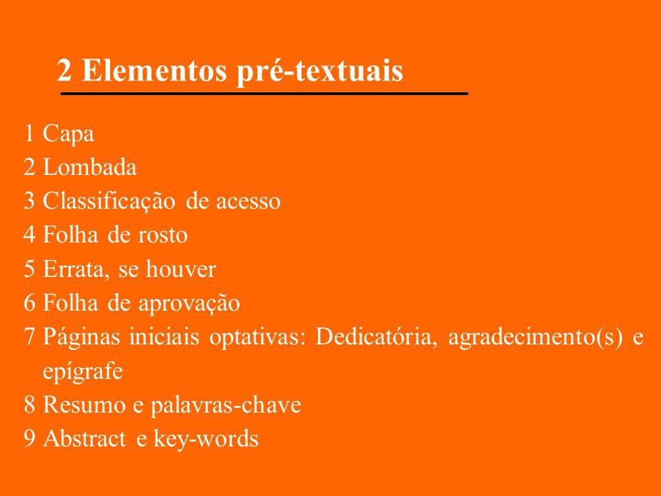 2 Elementos pré-textuais