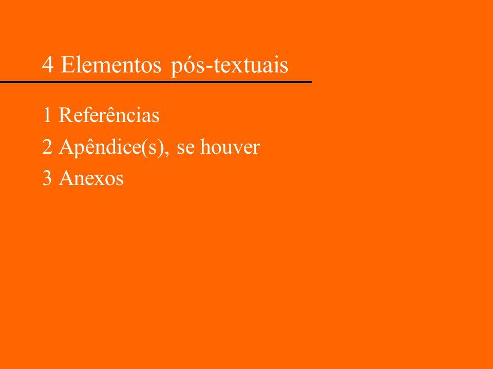 4 Elementos pós-textuais
