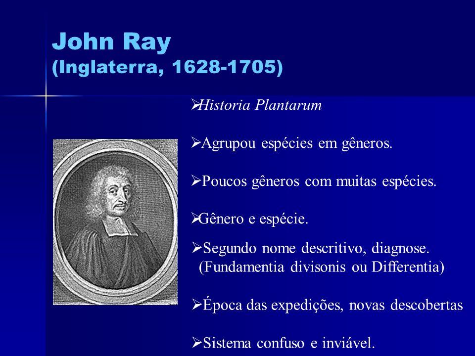 John Ray (Inglaterra, 1628-1705) Historia Plantarum