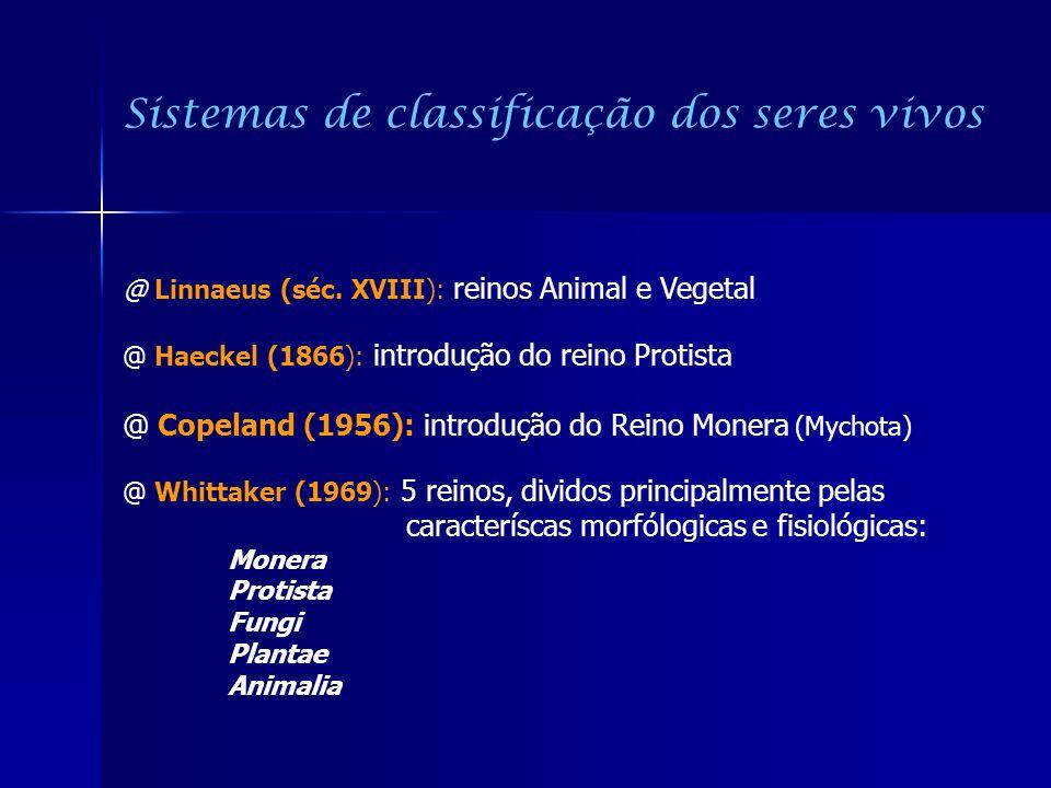 Sistemas de classificação dos seres vivos