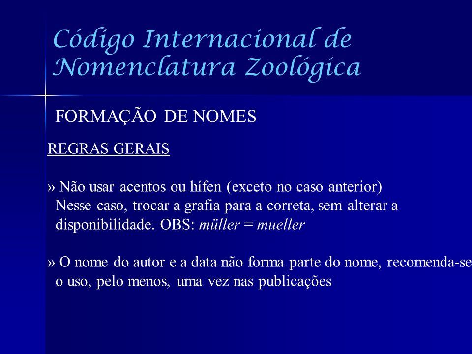 Código Internacional de Nomenclatura Zoológica