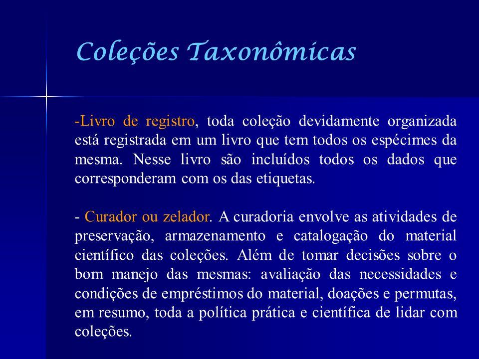 Coleções Taxonômicas