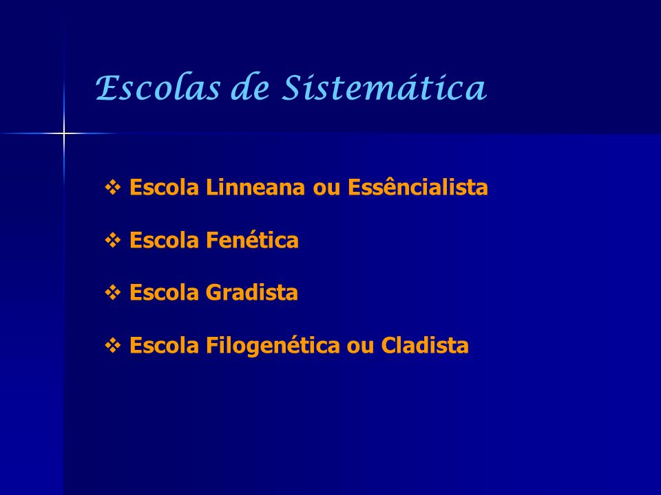 Escolas de Sistemática