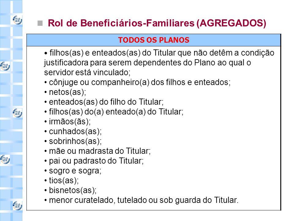 Rol de Beneficiários-Familiares (AGREGADOS)