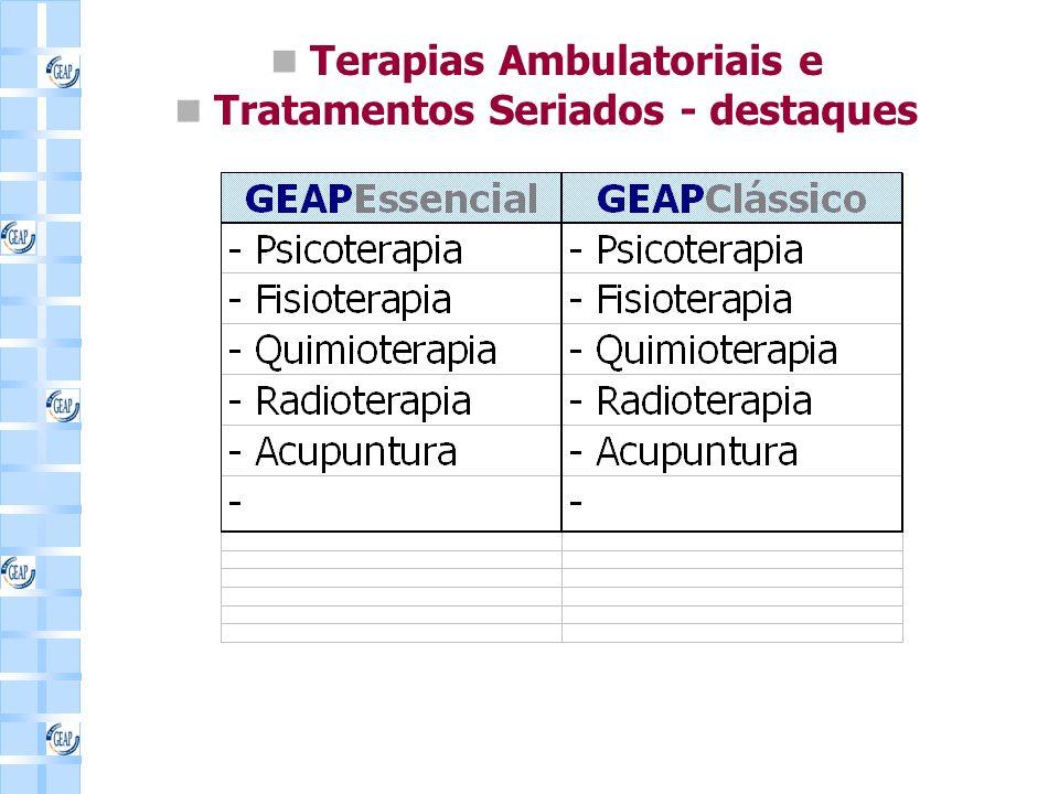 Terapias Ambulatoriais e Tratamentos Seriados - destaques