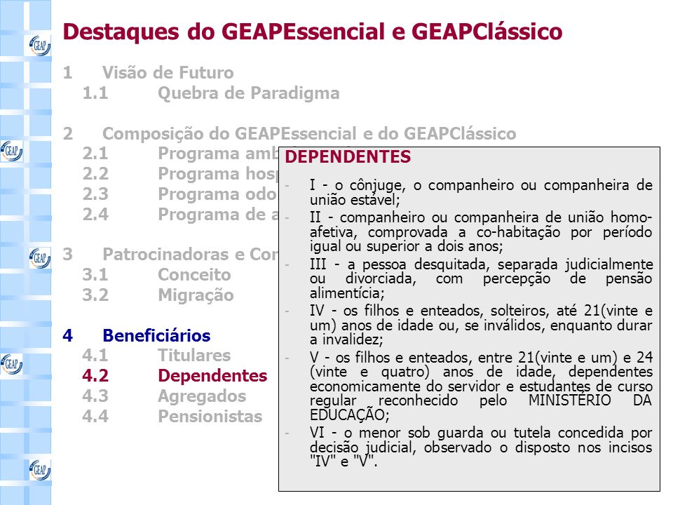 Destaques do GEAPEssencial e GEAPClássico