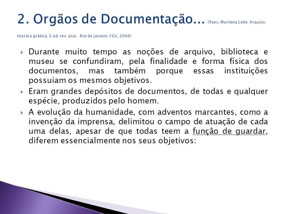 2. Orgãos de Documentação