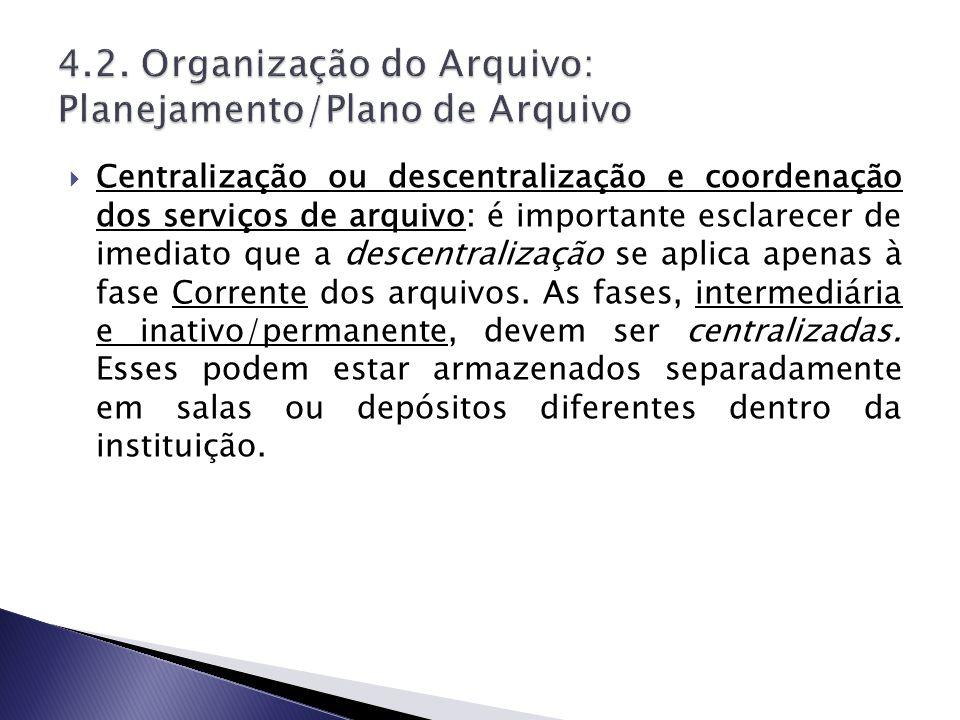 4.2. Organização do Arquivo: Planejamento/Plano de Arquivo