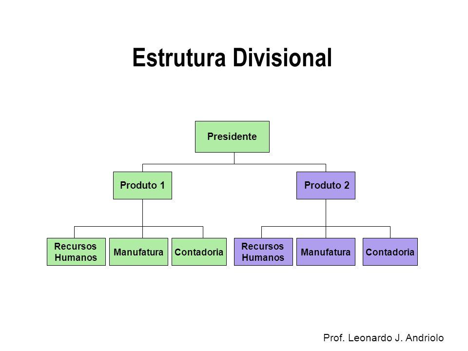 Estrutura Divisional Prof. Leonardo J. Andriolo Presidente Produto 1