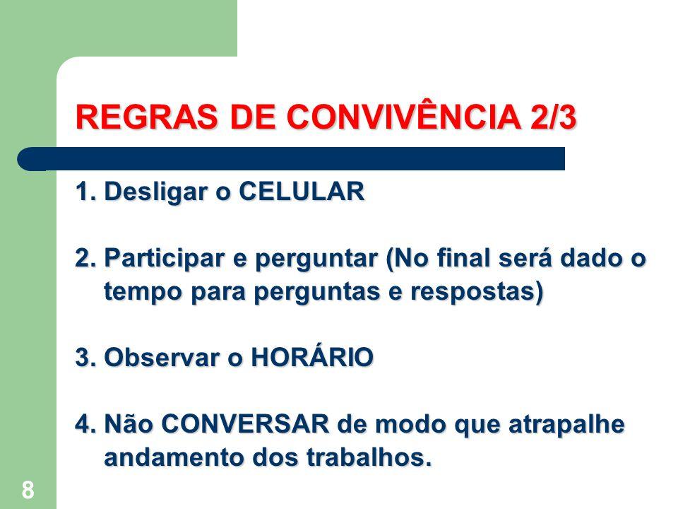 REGRAS DE CONVIVÊNCIA 2/3