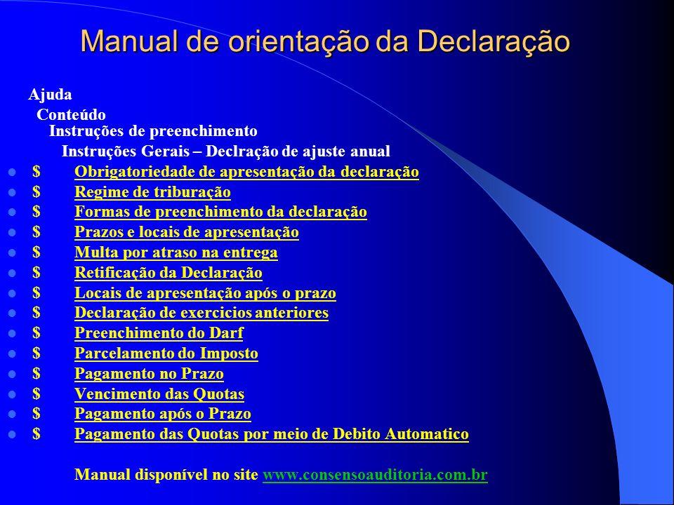 Manual de orientação da Declaração